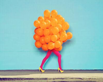 Ramona Rosales, 'Je Ne Suis Seul Sans Toi (Orange Balloons)', 2013