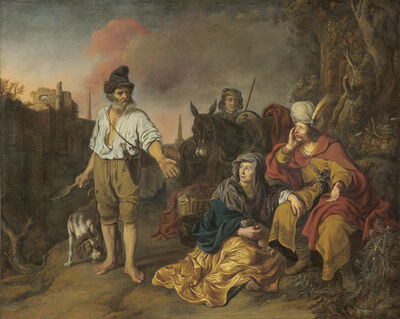 Gerbrand van den Eeckhout, 'The Levite at Gibeah', probably late 1650s