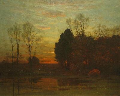 John Joseph Enneking, 'Tranquility at Sunset', 1879