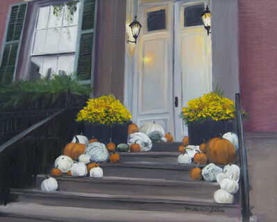 Mitchell Saler, 'Pumpkins in Greenwich Village', 2019