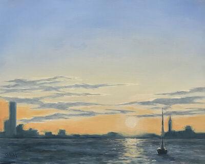 Gayle Madeira, 'Solstice Sunset on the Hudson', 2020
