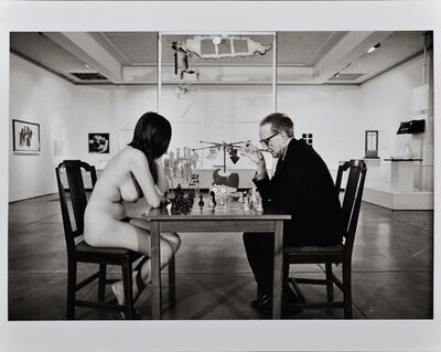 Julian Wasser, 'Duchamp Playing Chess with a Nude (Eve Babitz), Duchamp Retrospective, Pasadena Art Museum', 1963
