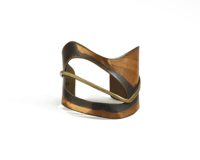 Art Smith, 'An Art Smith Modernist copper and brass cuff'