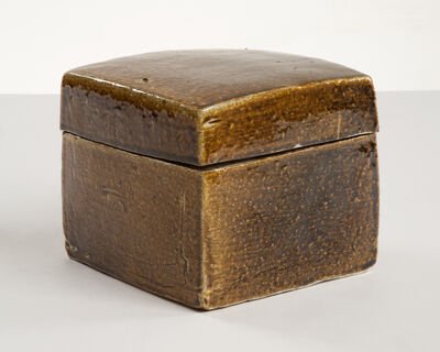 Lee Hun Chung, 'Medium Golden Brown Square Ceramic Box with a Lid', 2011
