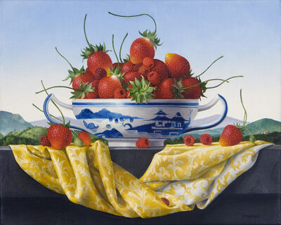 James Aponovich, 'Still Life with Strawberries in a Canton Bowl', 2014