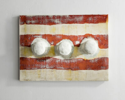 Lee Hun Chung, 'Glazed Ceramic Tile with Three Hooks', 2016