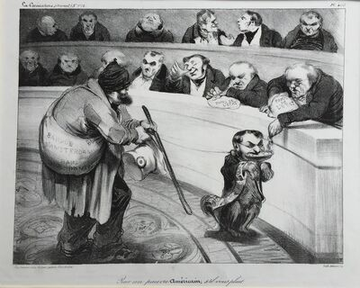 Honoré Daumier, 'FOR A POOR AMERICAN, PLEASE', 1835