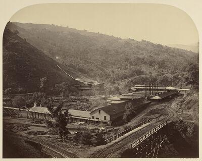 Carleton E. Watkins, 'Smelting Works, New Almaden', 1863