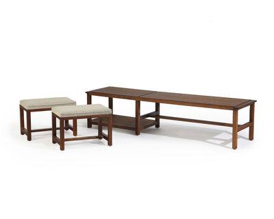 Edward Wormley, 'An Edward Wormley for Dunbar cocktail table and nesting stool set', 1961
