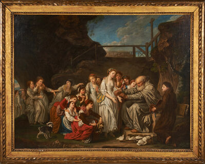"""after Jean-Baptiste Greuze, '""""The Distributor Of Rosaries (The Hermit)""""'"""