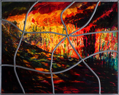 Sarkis, 'Red stained glass series No:8', 2020