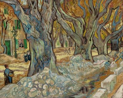 Vincent van Gogh, 'The Large Plane Trees (Road Menders at Saint-Rémy)', 1889