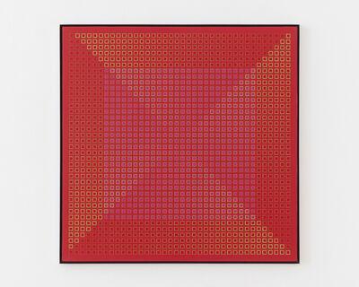 Julian Stanczak, 'Centred Duality - Red', 1981-1982