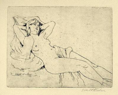 Walt Kuhn, 'Reclining Nude', ca. 1921