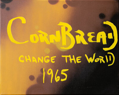 Cornbread, 'Cornbread Change The World Canvas', 2020