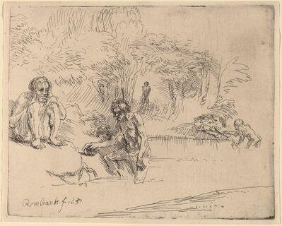 Rembrandt van Rijn, 'The Bathers', 1651