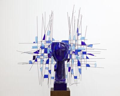 Manolo Valdés, 'Cabeza Azul con Resina Azul', 2018