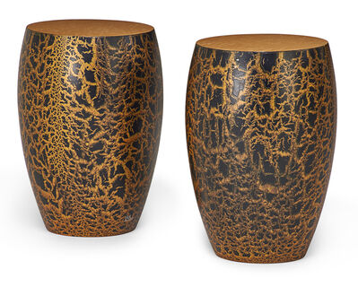 Wendell Castle, 'Pair of Karma side tables'