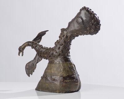 Manuel Mendive, 'Head with Chicken Hand', 1996