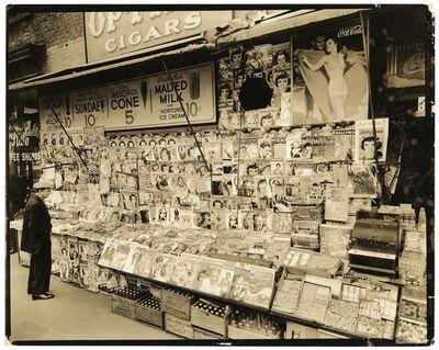 Berenice Abbott, 'Newsstand.  32nd Street and 3rd Avenue, Manhattan.', 1935