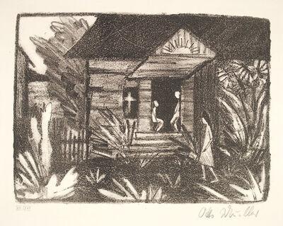 Otto Müller, 'Russisches Haus mit Sonnenblumen (Russian House with Sunflowers)', 1921-1922