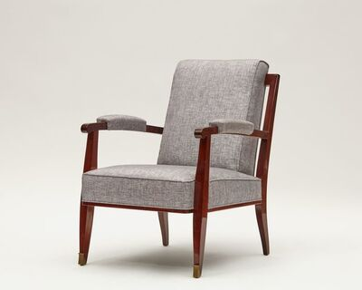 Maison Leleu, 'A Pair of Low Armchairs', ca. France-circa 1957