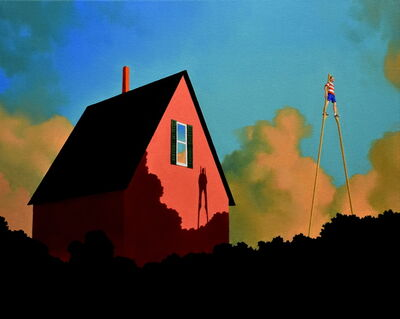 Rob Browning, 'Stilts and Pink House', 2019
