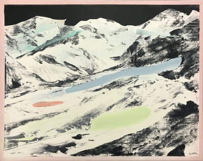 Una URSPRUNG, 'Mountains at night, Landscape #22', 2020