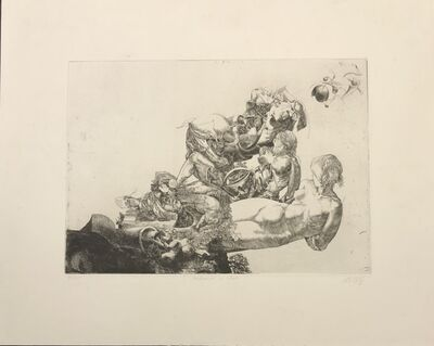 Jean-Pierre Velly, 'Maternité au chat', 1967