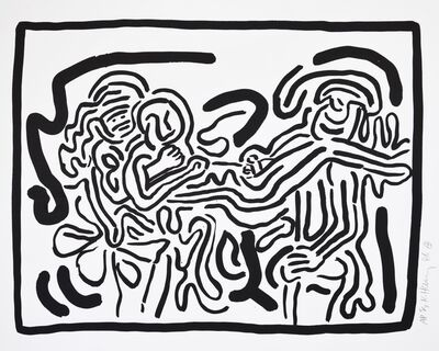 Keith Haring, 'Keith Haring, Bad Boys, 1986, portfolio of 6 screenprints.', 1986