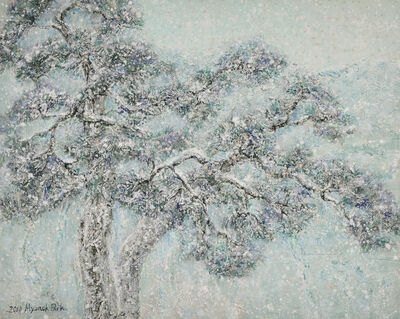 Hyun Ok Park, 'Spring snow', 2014