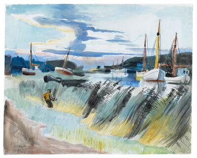 Max Pechstein, 'Angler am Lebastrom', 1936