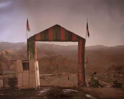 "Simon Norfolk, 'Victory arch built by the Northern Alliance at the entrance to a local commander's HQ in Bamiyan, from ""Afghanistan: Chronotopia""', 2002"