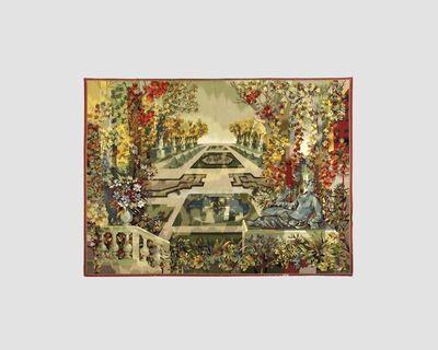 """Maison Leleu, '""""Jardin à la Française"""" A monumental Aubusson Tapestry Designed by Camille Hilaire (1916-2004) and executed by  Atelier Pinton Frères, Aubusson'"""