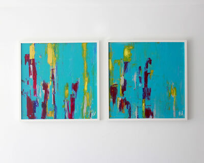"""Jacqueline Jandrell, '""""Spectrum and Array Diptych"""" - Acrylic on Canvas', 2020"""