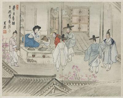 Shin Yun-bok 신윤복, '혜원전신첩 (Album of Genre Paintings by Shin Yunbok)', 18th-19th century