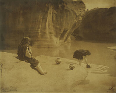 Edward Sheriff Curtis, 'At the Old Well—Acoma', 1904