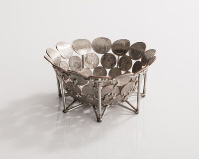 Johnny Swing, 'Unique small bowl in bent and welded coins on a stainless steel base. Designed and made by Johnny Swing, USA, 2016.', 2016
