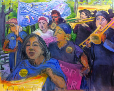 Regina Silvers, '8146N Granny Peace Brigade Series: Mother's Day Promenade', 2011