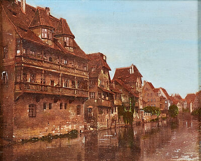 Charles Caryl Coleman, 'Houses Along the Canal'