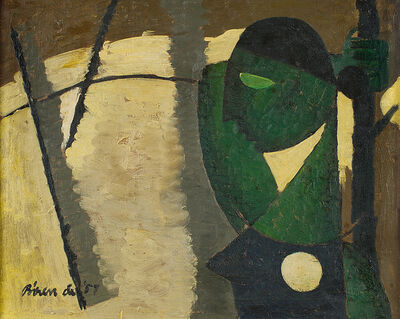 Biren De, 'Girl waiting', 1957