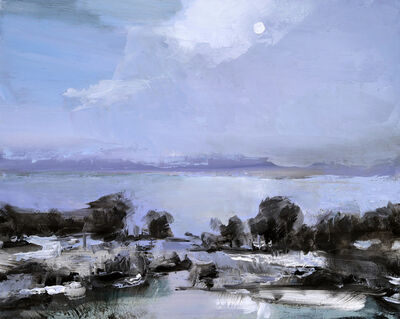 Simon Andrew, 'Lake with Pale Sky', 2018