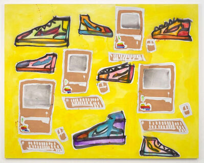 Katherine Bernhardt, 'Apple Computers and Sneakers', 2014