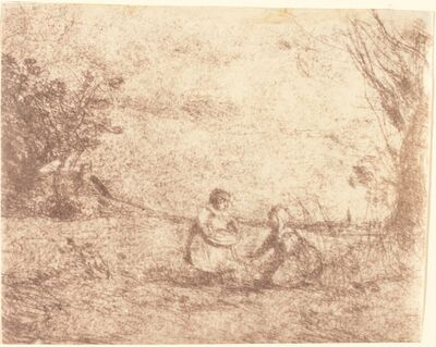 Jean-Baptiste-Camille Corot, 'Farm Children (Les Enfants de la ferme)', 1853