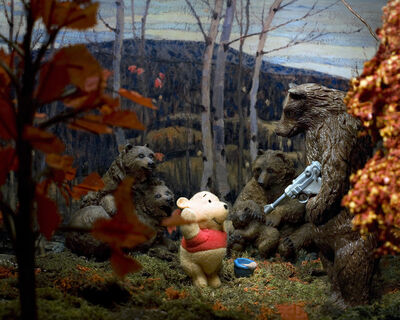 Diana Thorneycroft, 'Maple and Birches with Winnie the Pooh', 2009