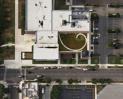 Brad Temkin, 'Sawyer School (from above, looking North), Chicago, IL July', 2013