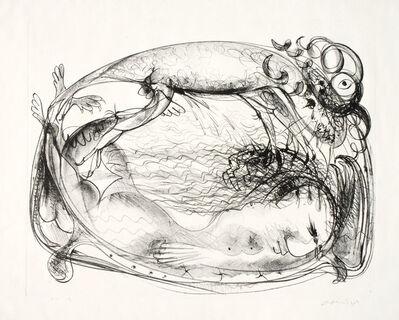 Arthur Boyd, 'Nude on Couch with Beast Below Ram's Head', ca. 1969
