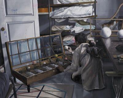 Shih Yung Chun, 'Ornamental Fixture Shop. D - Bird Pitching Device in Broken Sofa', 2017