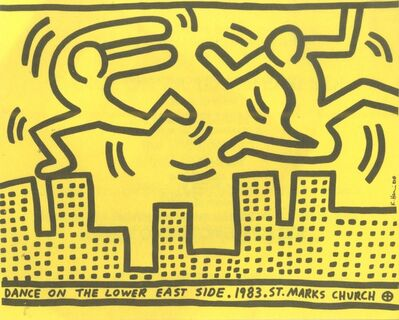 Keith Haring, 'Dance on the Lower East Side (from the Estate of Tim Hunt, curator of the Warhol Foundation)', 1983