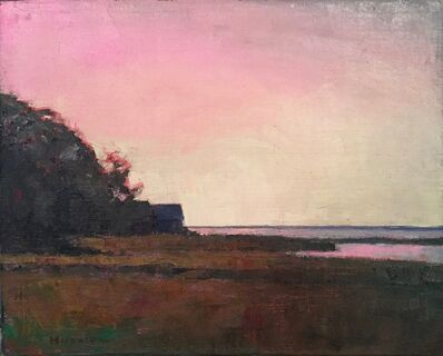 "Larry Horowitz, '""Crimson Dusk"" Pink and Yellow Sunset Sky with Dark Foreground', 2010-2018"